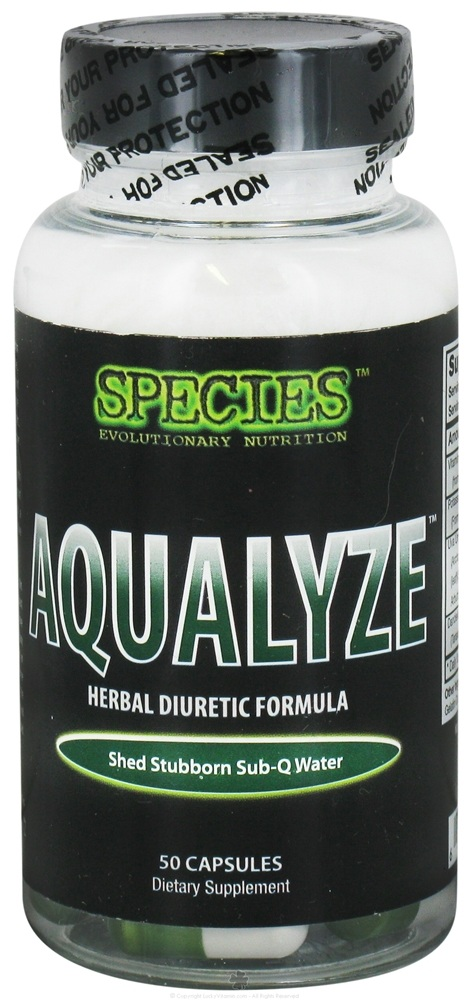 Species Nutrition - Aqualyze Herbal Diuretic Formula - 50 Capsules