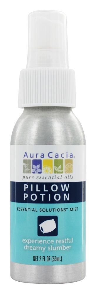 Aura Cacia - Mist Pillow Potion With Calming Lavender Essential Oil & Hops - 2 oz.