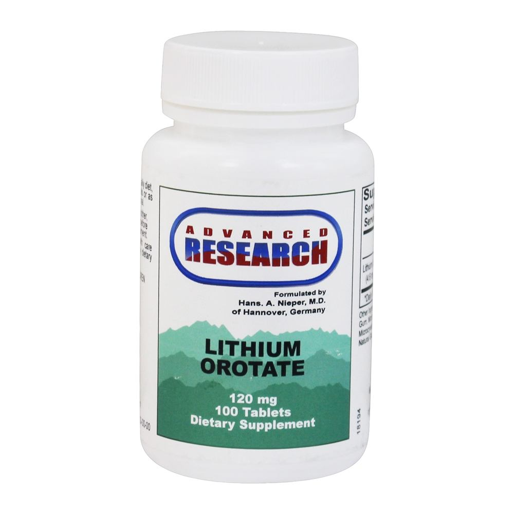 Advanced Research - Lithium Orotate 120 mg. - 100 Tablets