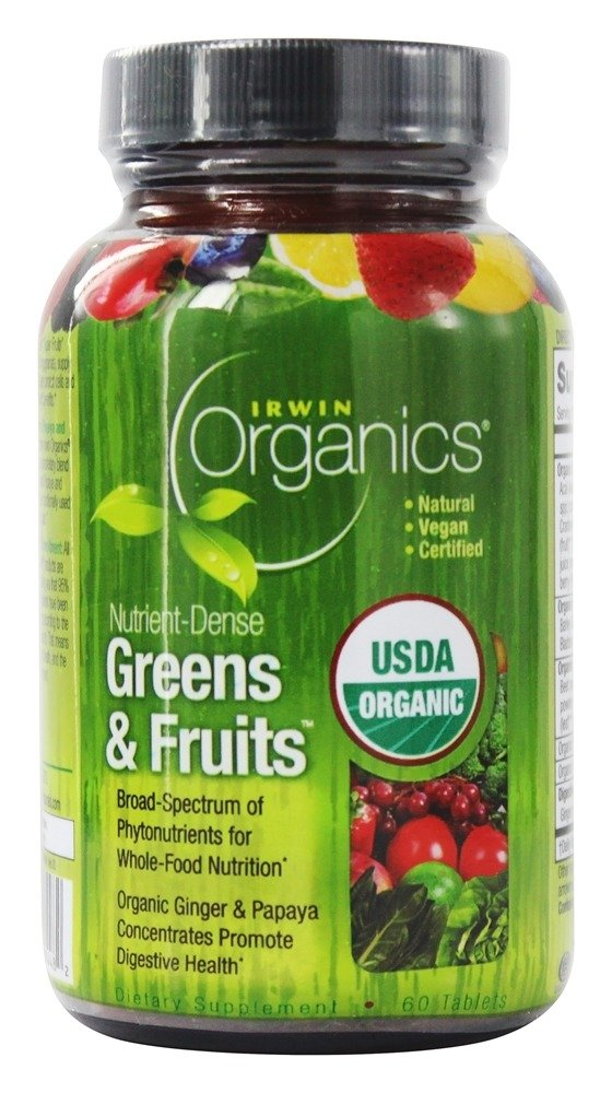 Irwin Naturals - Organics Nutrient-Dense Greens & Fruits - 60 Tablets