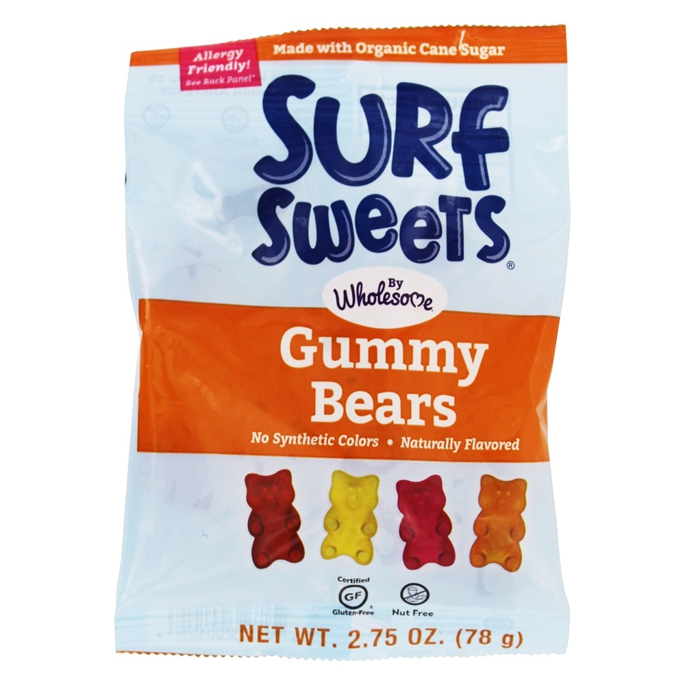 Surf Sweets - Gummy Bears All Natural - 2.75 oz.