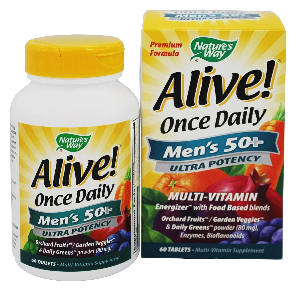 Nature's Way - Alive Once Daily Men's 50+ Multi-Vitamin & Whole Food Energizer Ultra Potency - 60 Tablets LUCKY DEAL