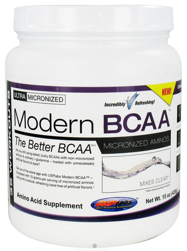 USP Labs - Modern BCAA Ultra Micronized Amino Acid Supplement Grape Bubblegum - 15 oz.