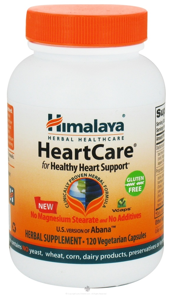Himalaya Herbal Healthcare - HeartCare Abana for Healthy Heart Support - 120 Vegetarian Capsules CLEARANCE PRICED