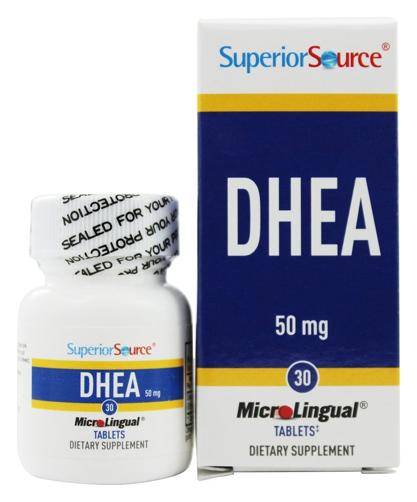 Superior Source - DHEA Instant Dissolve 50 mg. - 30 Mini-Tab(s)