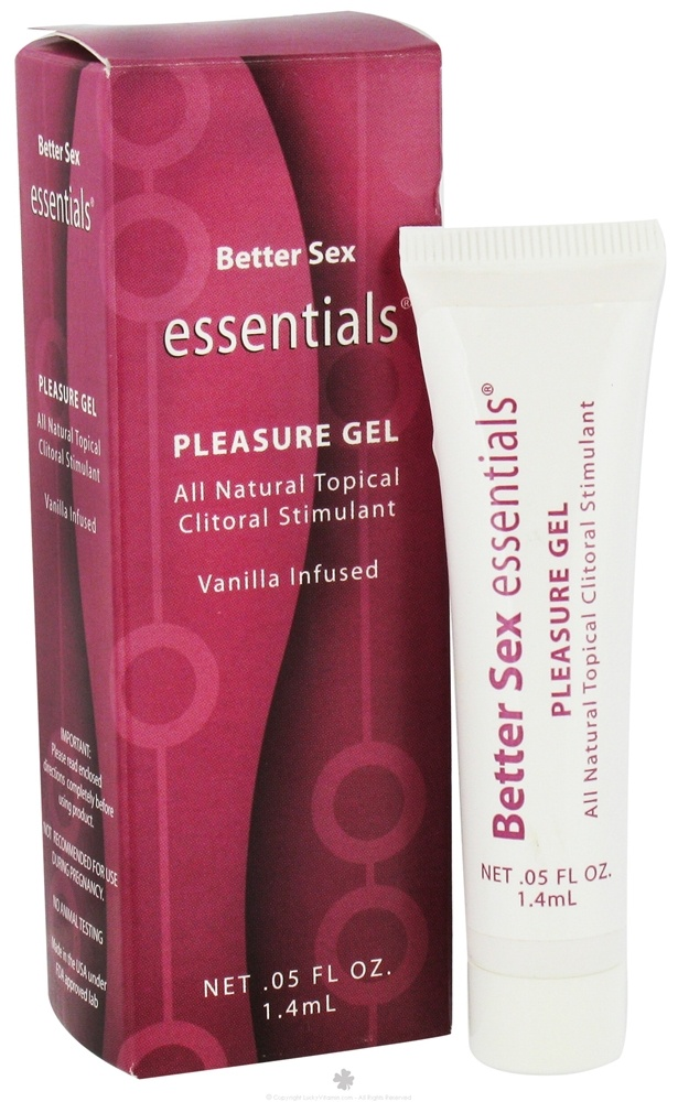 Sinclair Institute - Better Sex Essentials Pleasure Gel All Natural Topical Clitoral Stimulant Vanilla Infused - 0.05 oz.