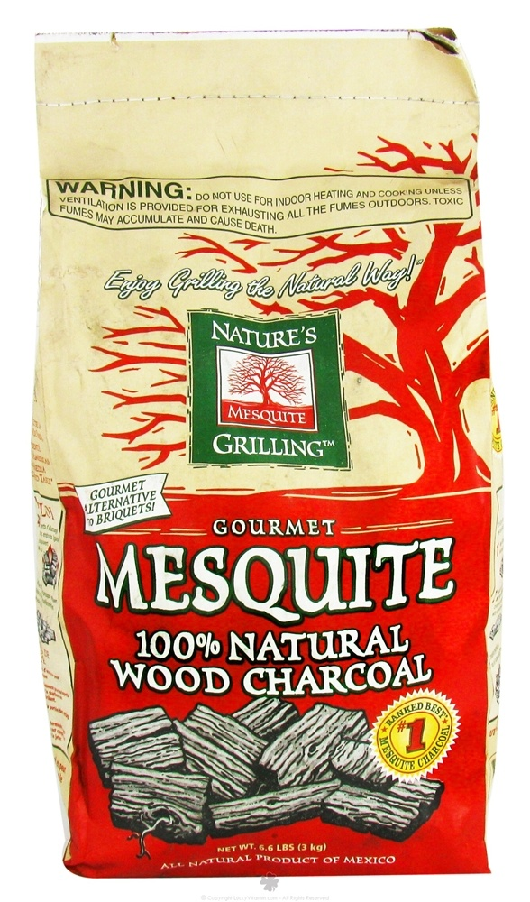 Nature's Grilling Products - 100% Natural Wood Charcoal Gourmet Mesquite - 6.6 lbs.