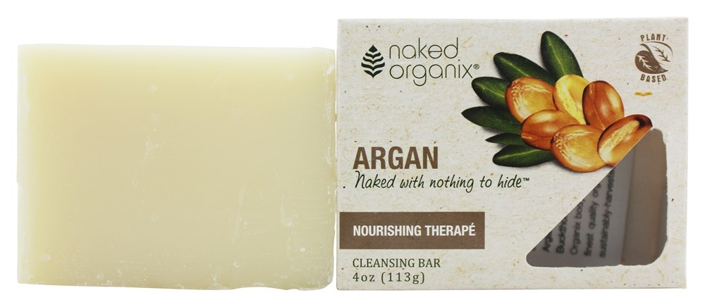 Organix South - Naked Organix Argan Cleansing Bar Fragrance Free - 4 oz.