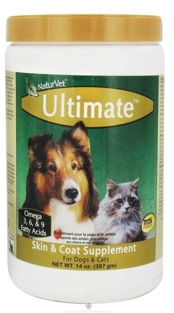 NaturVet - Ultimate Skin & Coat Supplement - 14 oz. CLEARANCE PRICED