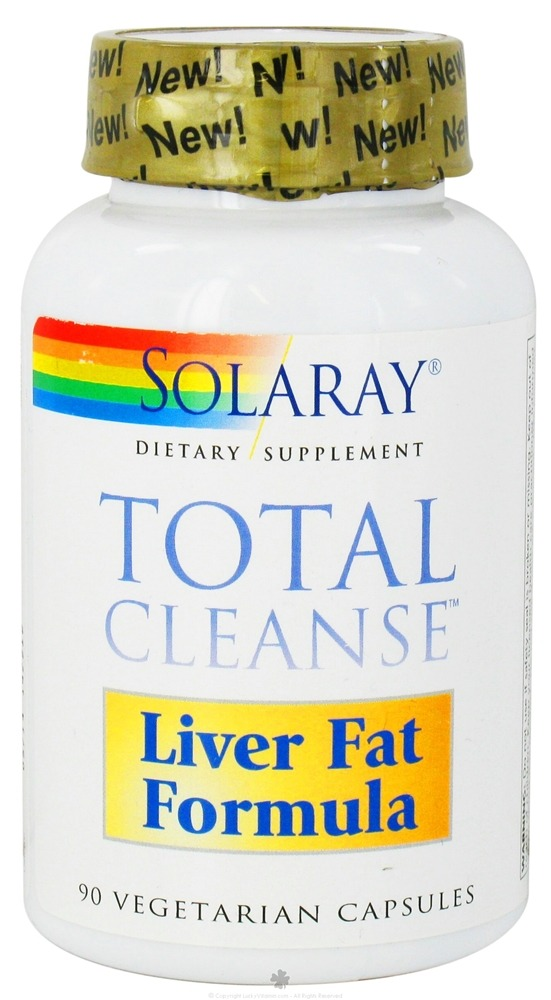 Solaray - Total Cleanse Liver Fat Formula - 90 Vegetarian Capsules