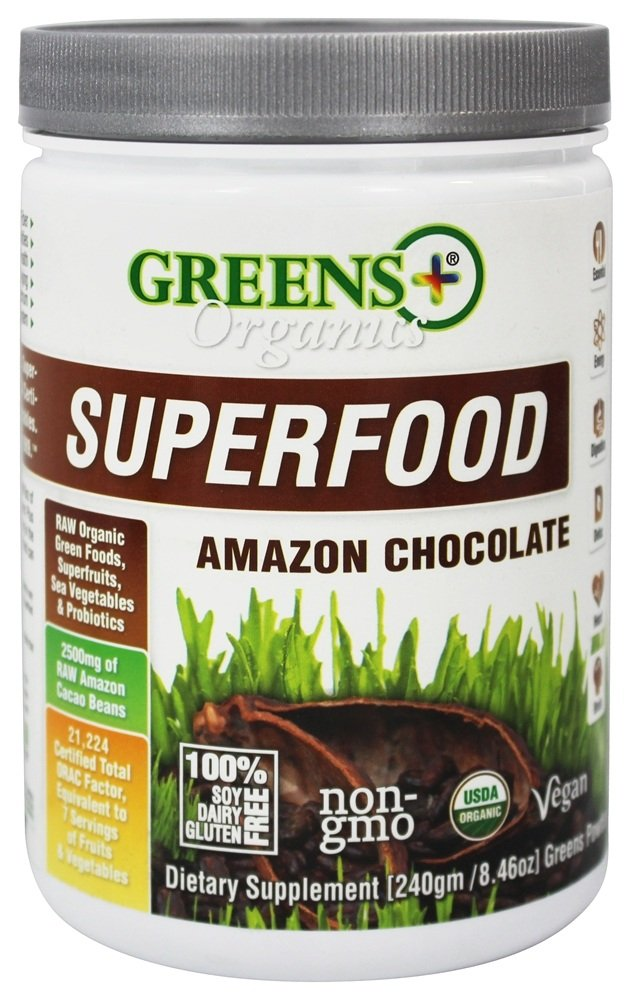 Greens Plus - Organic Amazon Chocolate Powder - 8.46 oz.