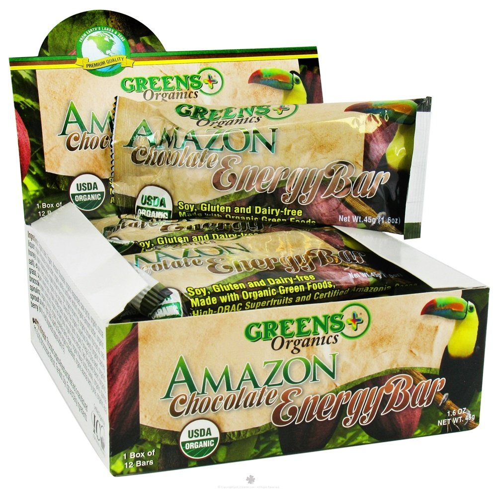 Greens Plus - Organic Amazon Chocolate Energy Bar - 1.6 oz.