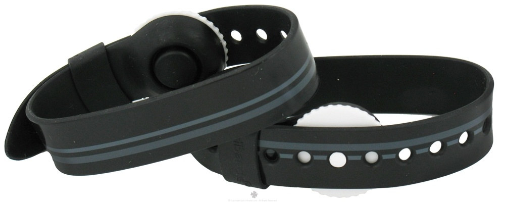 Psi Bands - Nausea Relief Wrist Band Drug Free Racer Black - 2 Band(s)