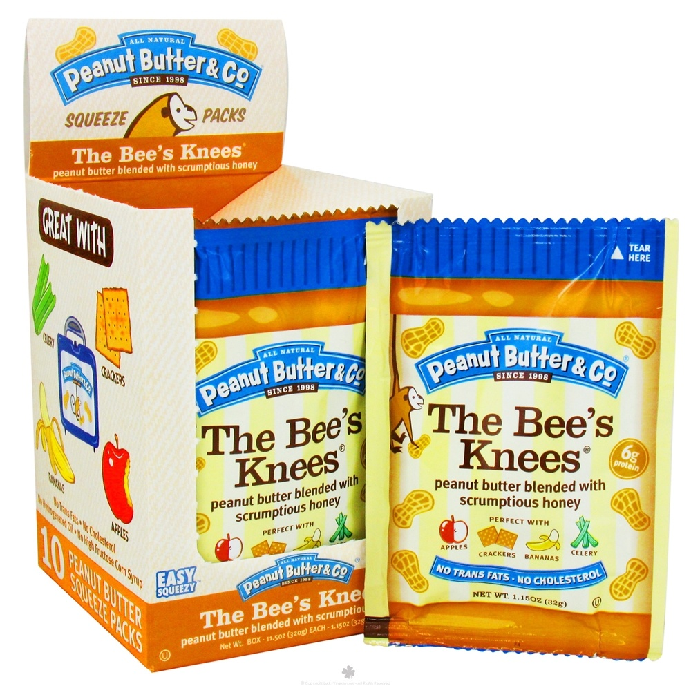 Peanut Butter & Co. - The Bees's Knees Squeeze Pack Peanut Butter Blended with Scrumptious Honey - 1.15 oz.