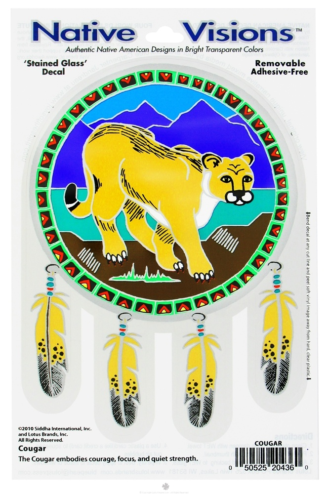 Native Visions - Window Transparencies Cougar - CLEARANCE PRICED