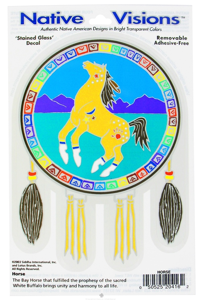 Native Visions - Window Transparencies Horse - CLEARANCE PRICED