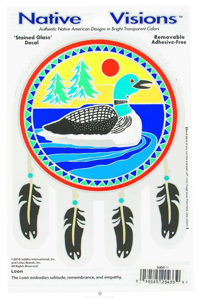 Native Visions - Window Transparencies Loon - CLEARANCE PRICED