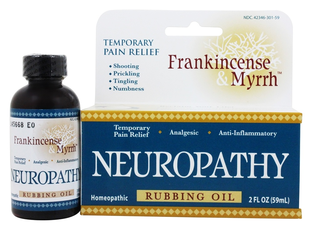 Frankincense & Myrrh - All Natural Neuropathy Rubbing Oil - 2 oz.
