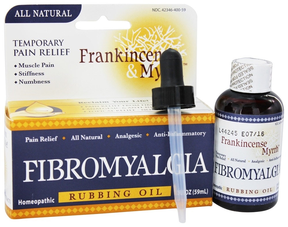 Frankincense & Myrrh - All Natural Fibromyalgia Rubbing Oil - 2 oz.