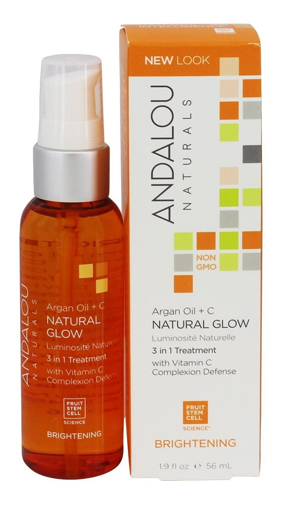 Andalou Naturals - Argan + Omega Natural Glow 3 in 1 Treatment - 1.9 oz. Formerly Facial Concentrate Nourishing Omega Glow