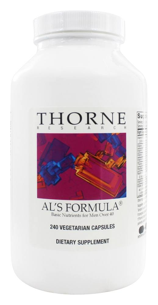 Thorne Research - Al's Formula Basic Nutrients for Men Over 40 - 240 Vegetarian Capsules