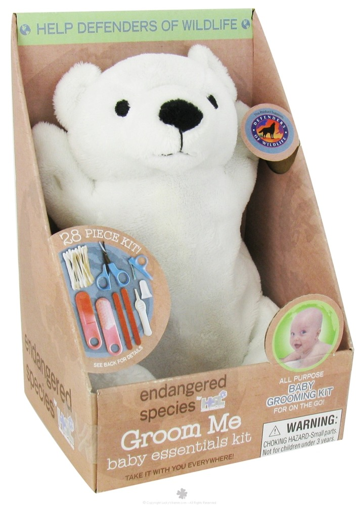 Health Science Labs - Endangered Species Groom Me Baby Essentials Kit Polar Bear - 28 Piece(s) CLEARANCE PRICED
