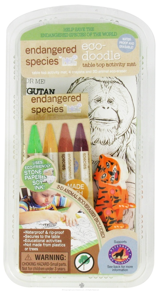 Health Science Labs - Endangered Species Eco-Doodle Table Top Activity Mat - CLEARANCE PRICED