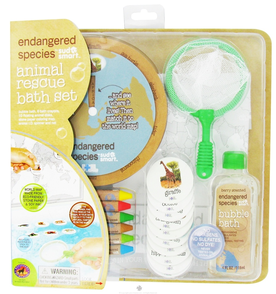 Health Science Labs - Endangered Species Animal Rescue Bath Set with 4 oz. Bubble Bath Berry Scented - CLEARANCE PRICED