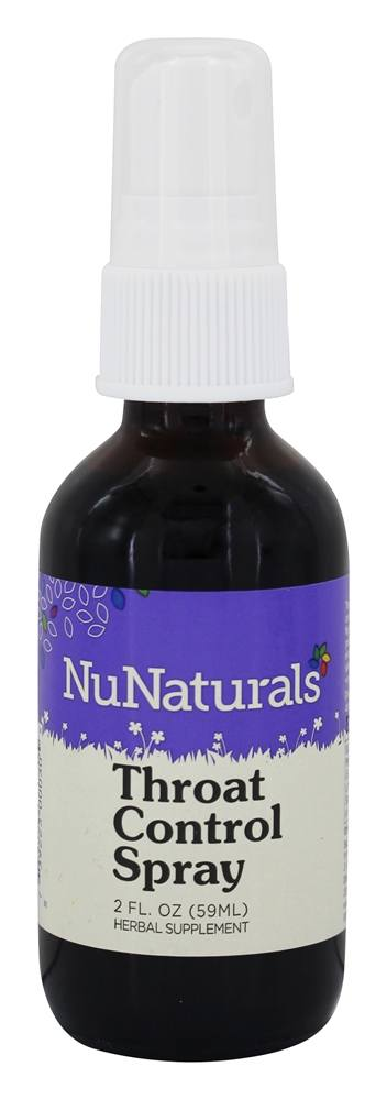 NuNaturals - Pure Liquid Throat Control Spray - 2 oz.