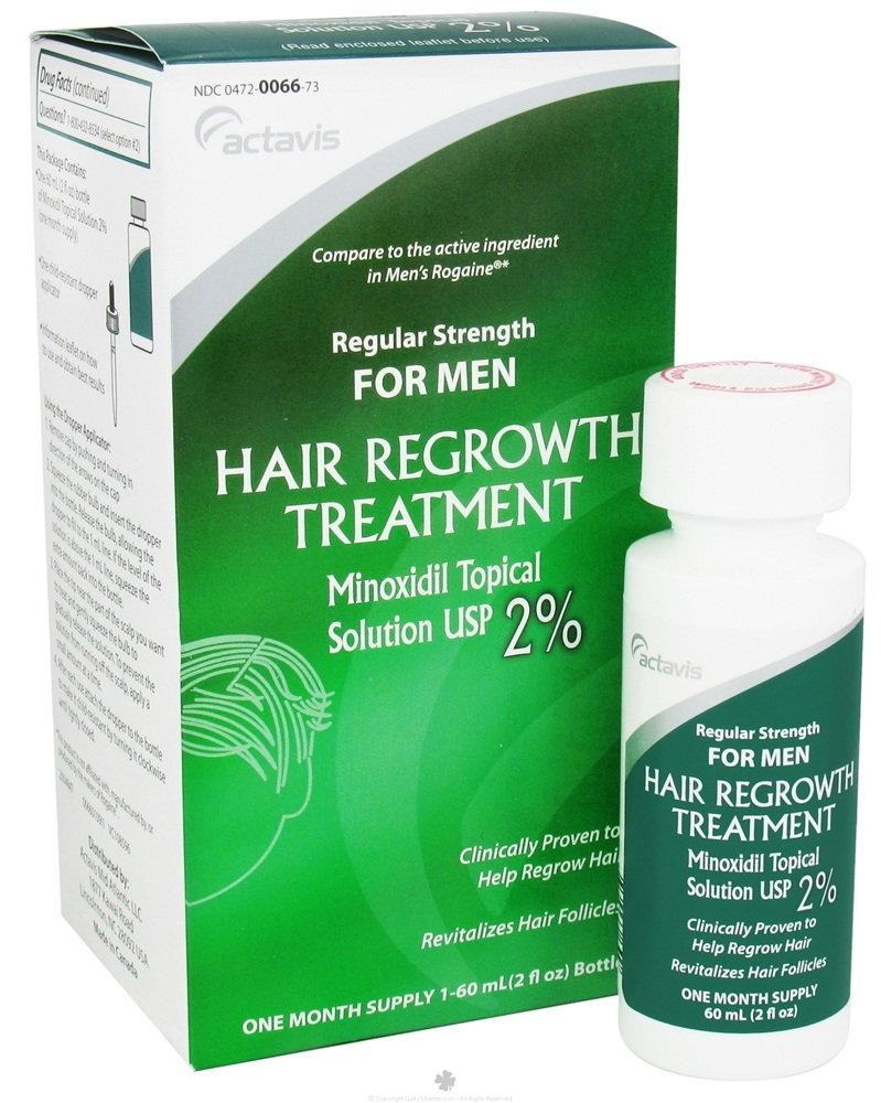 Actavis - Regular Strength Hair Regrowth Treatment for Men One Month Supply - 2 oz. CLEARANCE PRICED