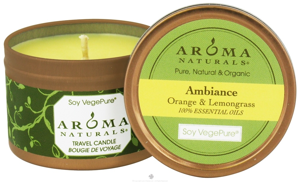 Aroma Naturals - Ambiance Soy VegePure Small Travel Tin Eco-Candle Orange & Lemongrass