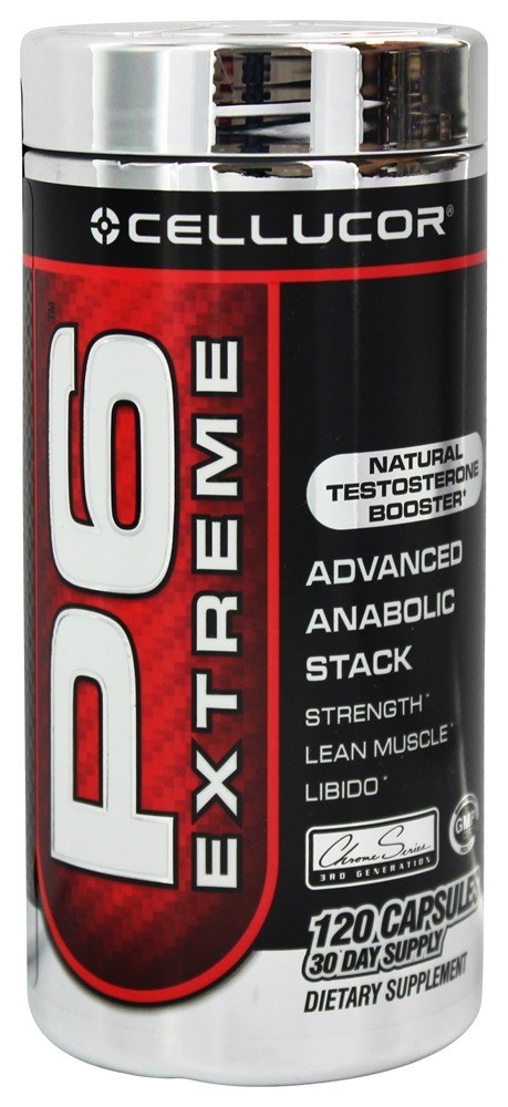 Cellucor - P6 Extreme Natural Testosterone Booster - 120 Capsules