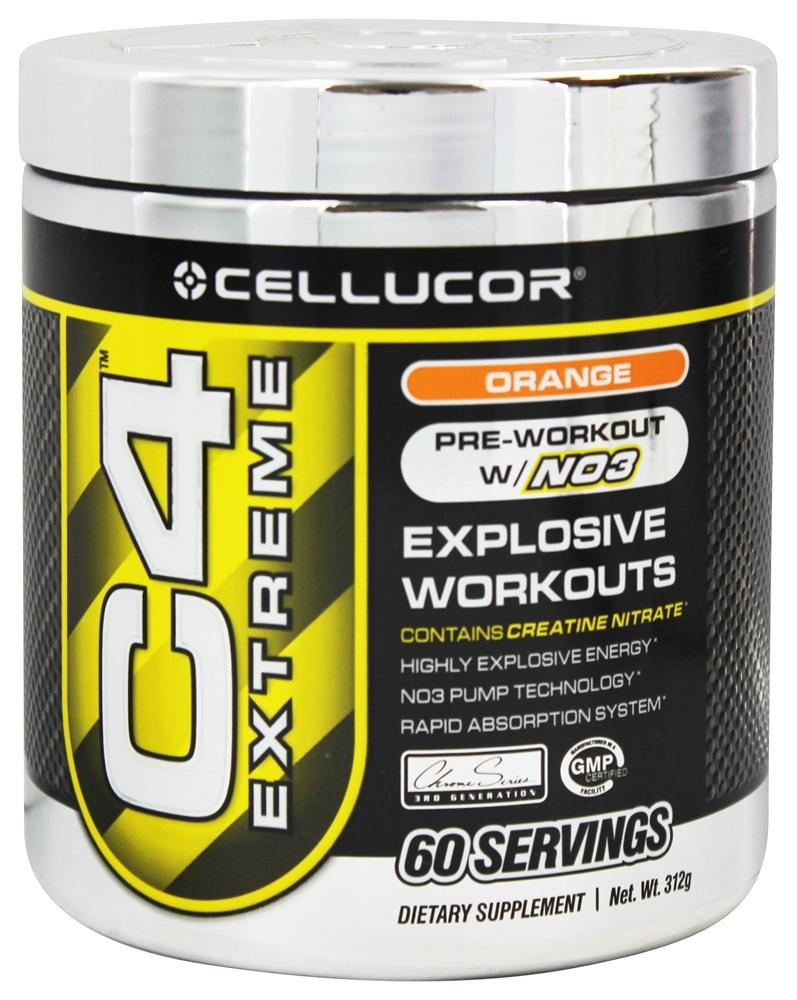 Cellucor - C4 Extreme Pre-Workout with NO3 Orange 60 Servings - 360 Grams
