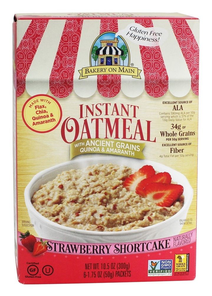 Bakery On Main - Instant Oatmeal Strawberry Shortcake Flavored - 10.5 oz.