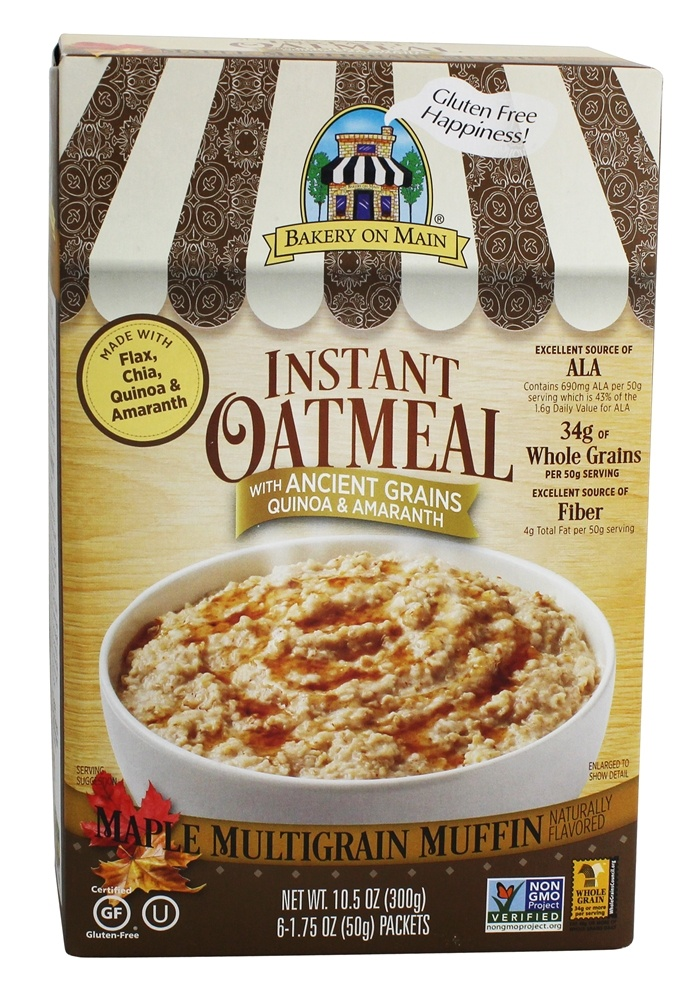Bakery On Main - Instant Oatmeal Maple Multigrain Muffin Flavored - 10.5 oz.