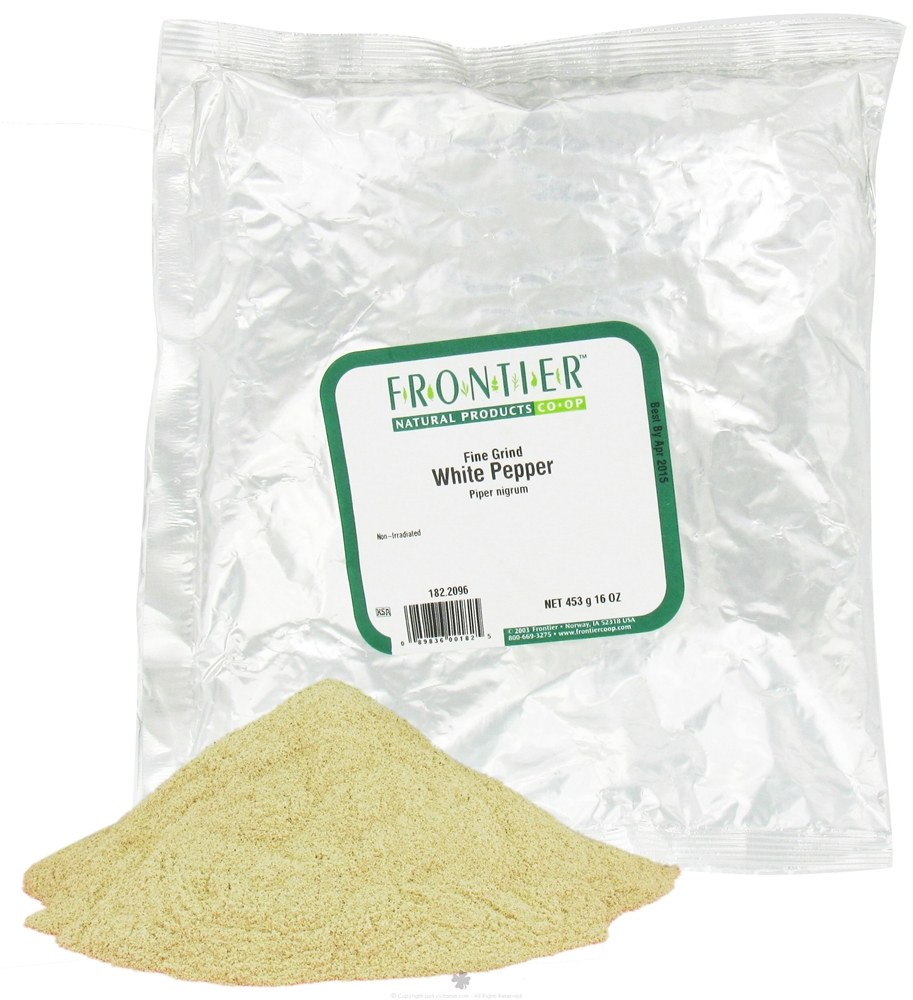 Frontier Natural Products - White Pepper Fine Grind - 1 lb.