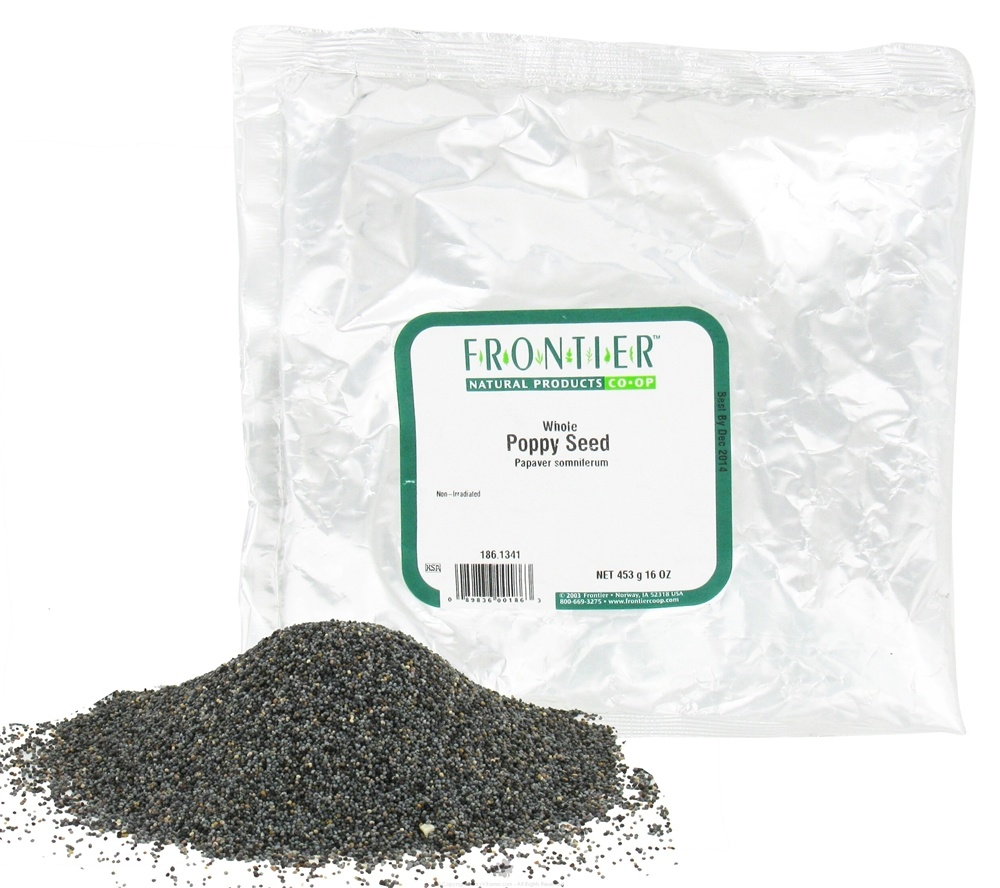 Frontier Natural Products - Poppy Seed Whole - 1 lb.