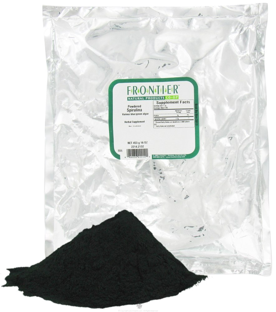 Frontier Natural Products - Spirulina Powdered - 1 lb.