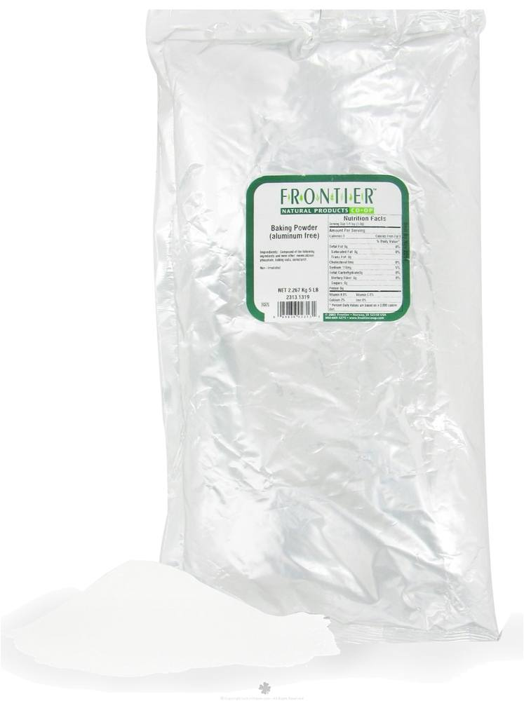 Frontier Natural Products - Baking Powder Double Aluminum Free - 5 lbs.