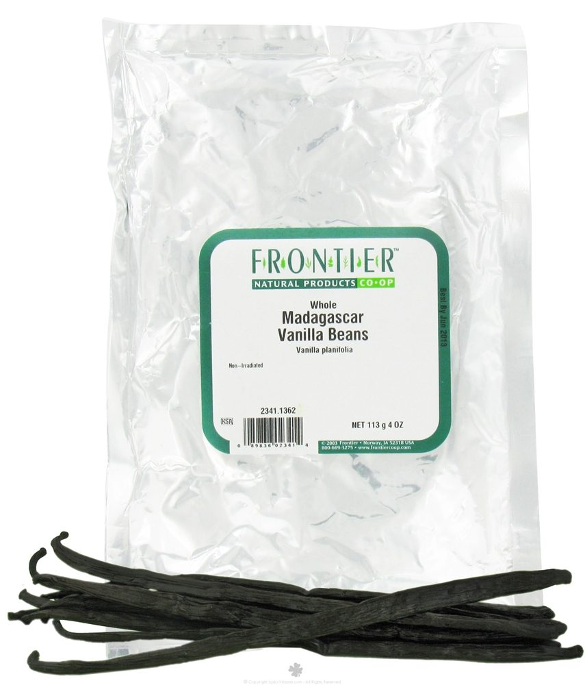 Frontier Natural Products - Vanilla Beans Madagascar Whole - 4 oz.