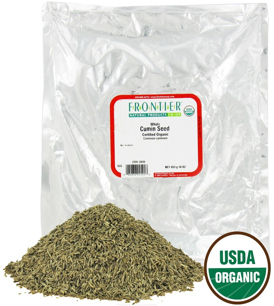 Frontier Natural Products - Cumin Seed Whole Organic - 1 lb.