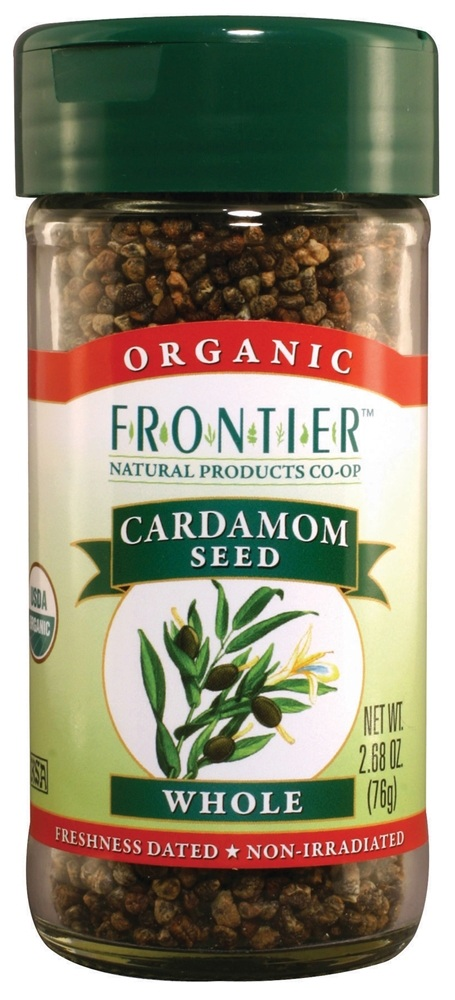 Frontier Natural Products - Cardamom Seed Whole Organic - 2.68 oz.