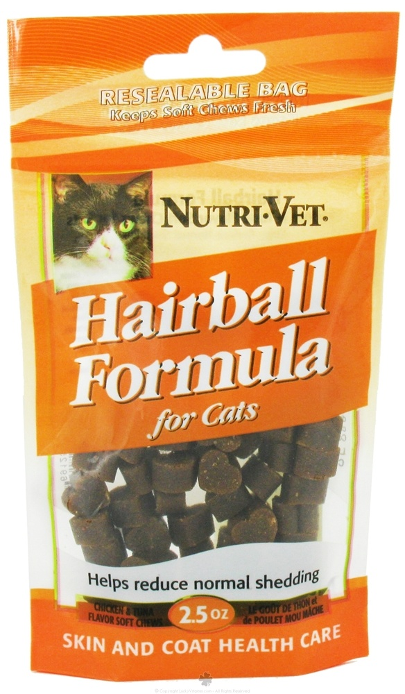 Nutri-Vet - Hairball Formula Soft Chews For Cats Chicken And Tuna - 2.5 oz.