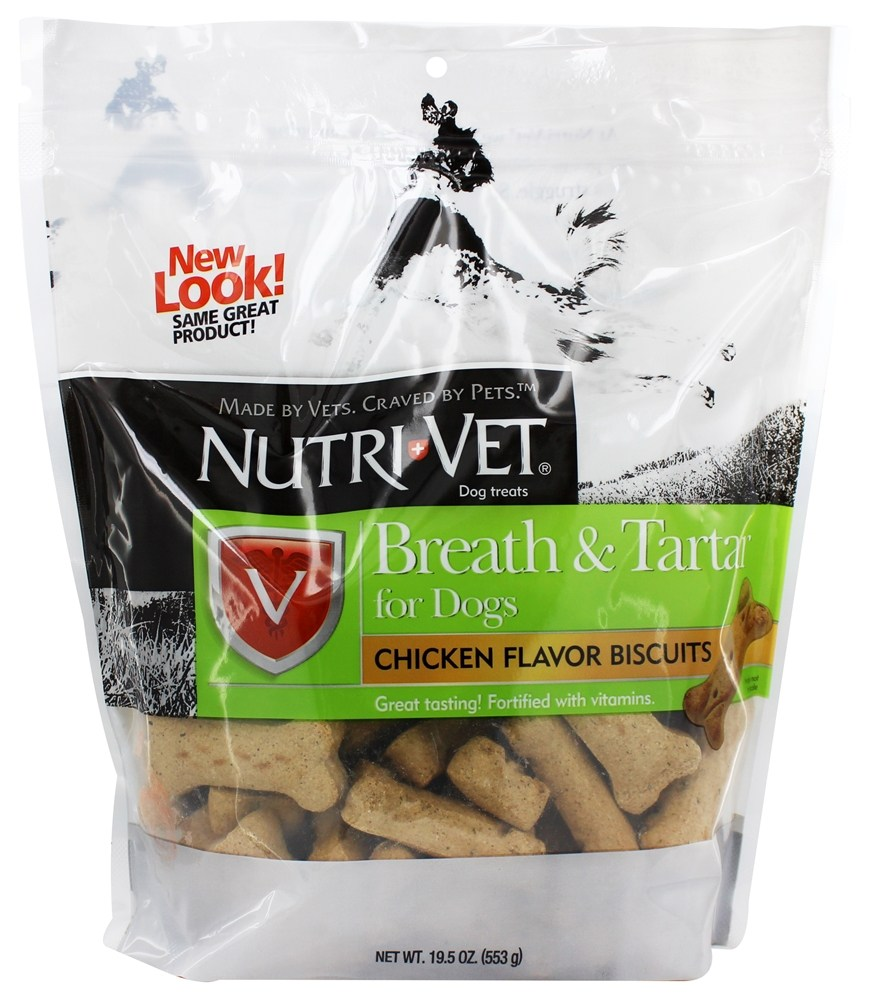 Nutri-Vet - Breath & Tartar Biscuits For Dogs Mint & Parsley - 19.5 oz.