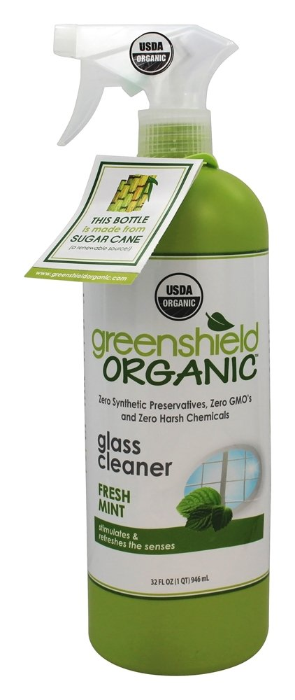 Green Shield Organic - USDA Certified Glass Cleaner Magnolia and Poppy Scent - 32 oz.
