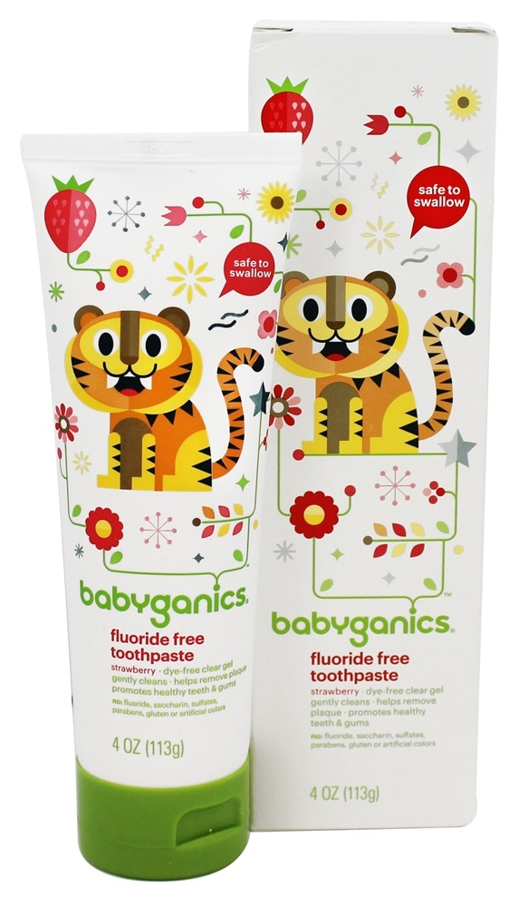 BabyGanics - Toothpaste Gel Fluoride Free Say Aahhh! Strawberry - 4 oz.