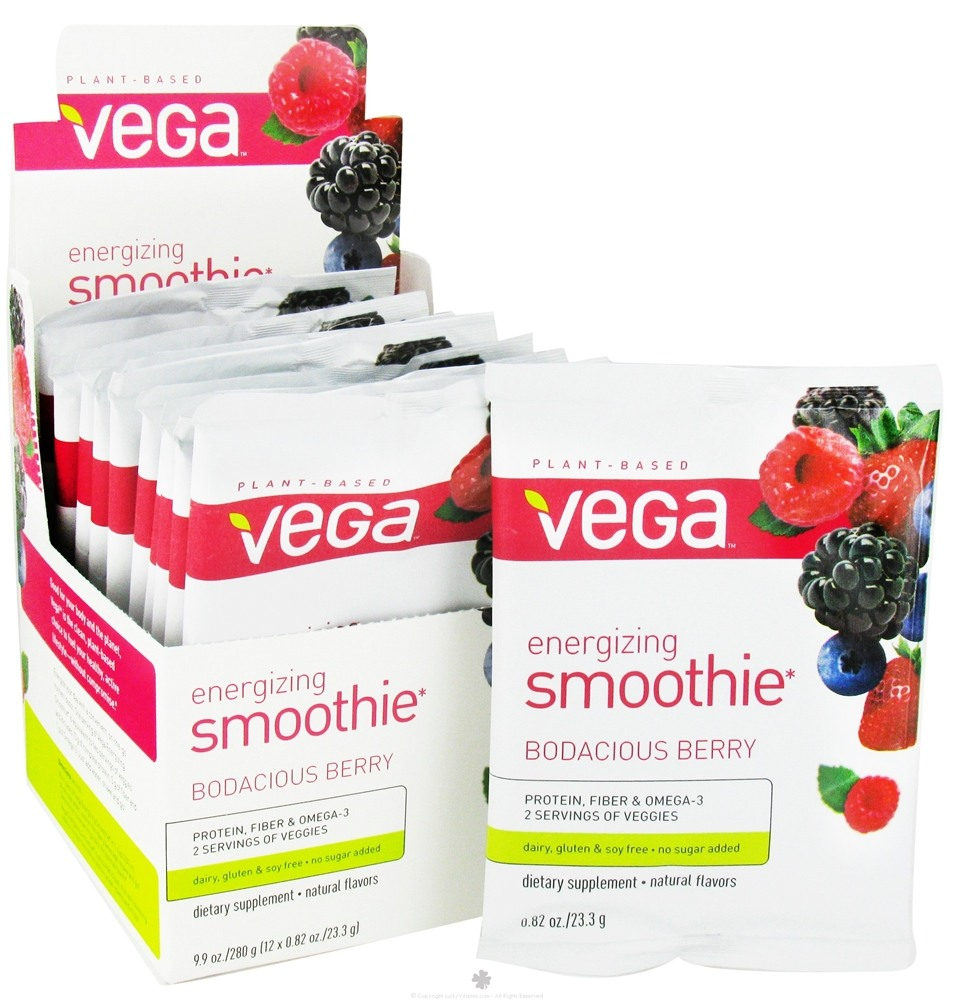 Vega - Energizing Smoothie Bodacious Berry -12 x .82 oz.(23.3g) Packet