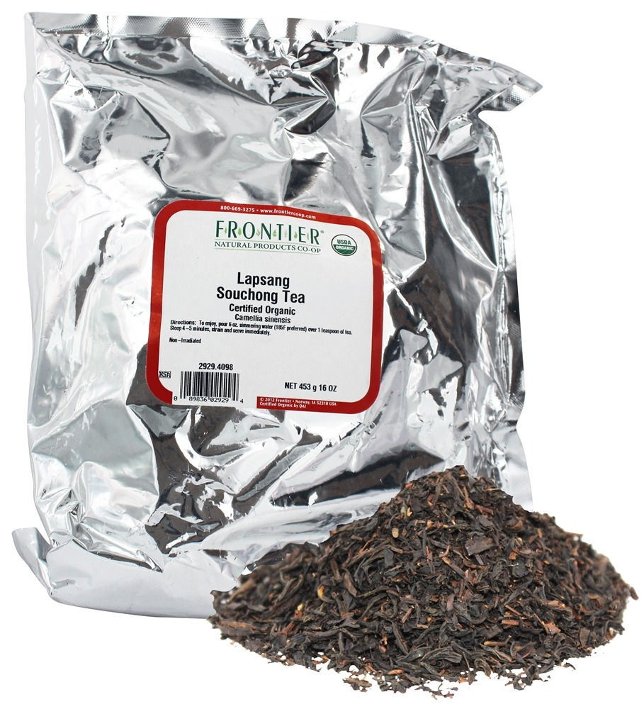 Frontier Natural Products - Bulk Lapsang Souchong Tea Organic - 1 lb.