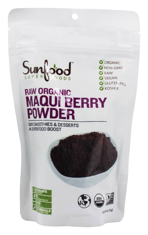 Sunfood Superfoods - Organic Maqui Berry Powder - 4 oz.