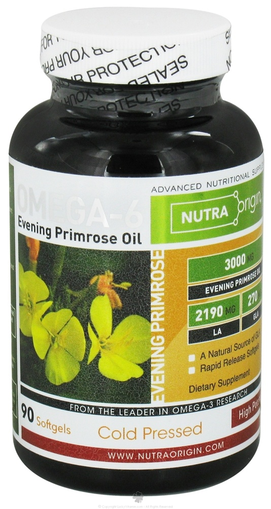 Nutra Origin - Omega-6 Evening Primrose Oil High Potency 3000 mg. - 90 Softgels